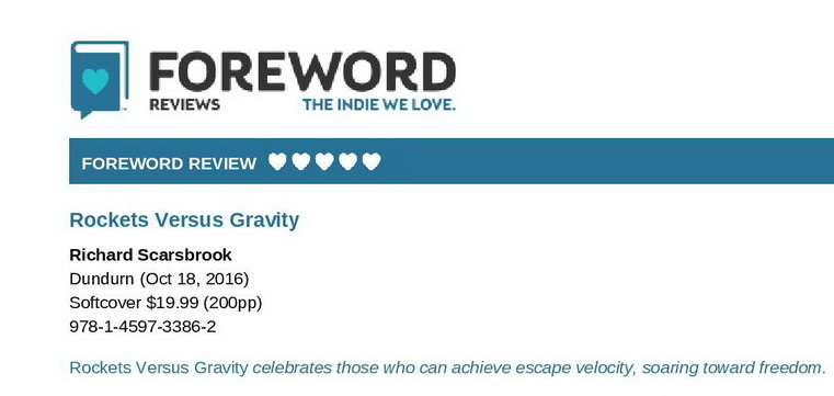 A Five-Star Review for Rockets Versus Gravity