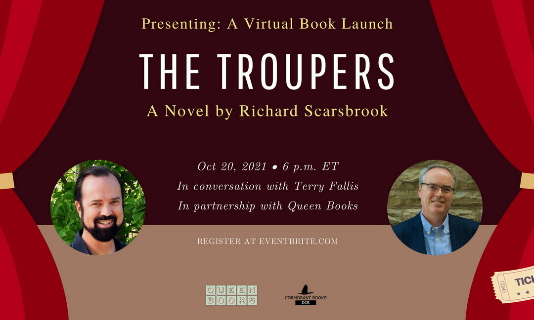 THE TROUPERS VIRTUAL BOOK LAUNCH PARTY – Wednesday, October 20, 2021, 6 PM
